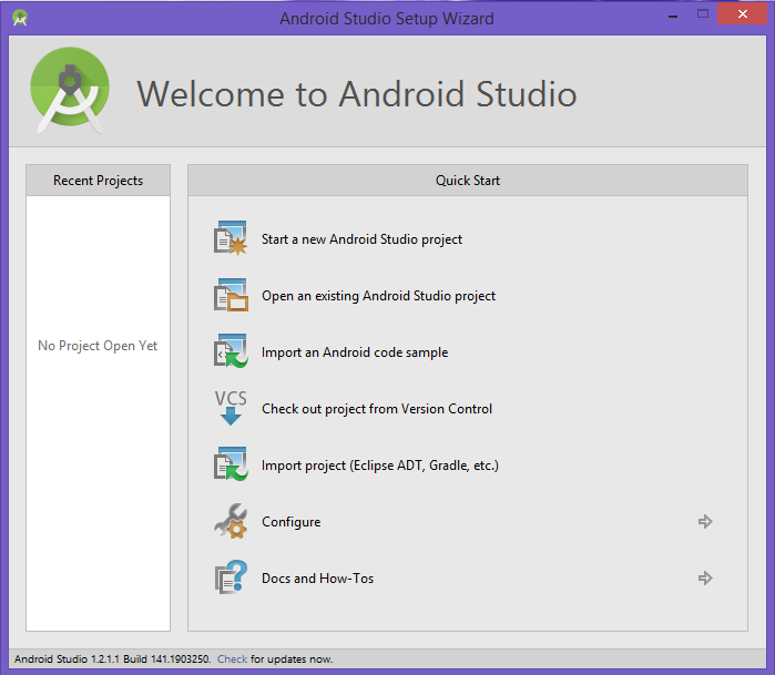 Android Studio Startup Startup2